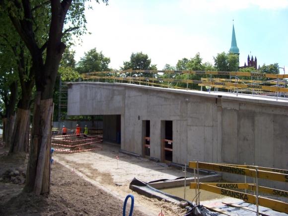Fotografia z budowy CDP (fot. Magdalena Majewska)