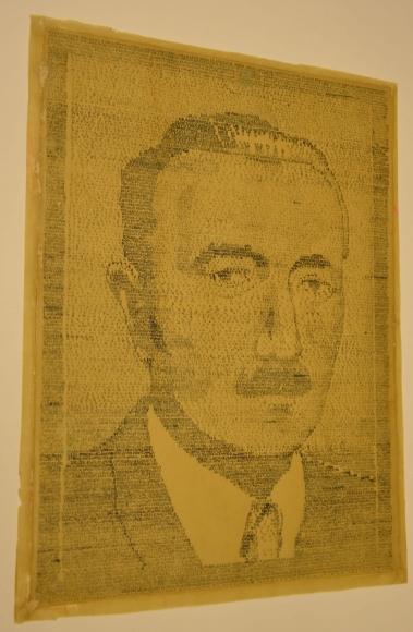 Autor nieznany, Portret Bolesława Bieruta, 1952, tusz, papier