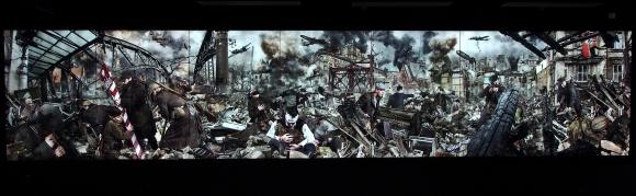 Kobas Laksa, Das Ende des Traums/Koniec marzeń, Stettin'45, 2015, cyfrowy montaż fotograficzny, panorama