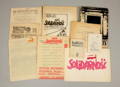 Wydawnictwa II obiegu w stanie wojennym. Muzeum Narodowe w Szczecinie (fot. Grzegorz Solecki)