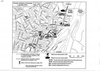 W grudniu 1970 r. Szczecin stał się areną walk demonstrantów z milicją. Z książki: Sienkiewicz Witold, Polska od roku 1944. Najnowsza historia. Polityka - Społeczeństwo - Gospodarka, Warszawa 2012.
