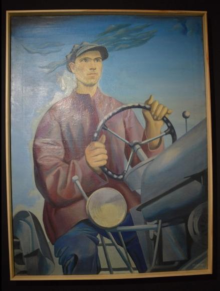 Henryk Stażewski, Na ziemiach scalonych, 1950/1951, olej, płótno